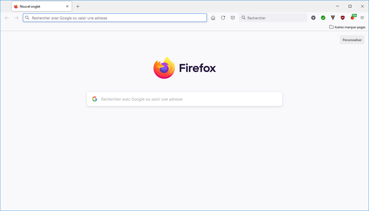 taille interface Firefox
