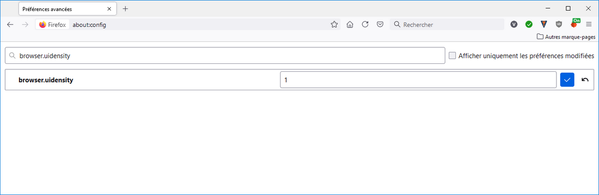taille interface Firefox paramètres avancés